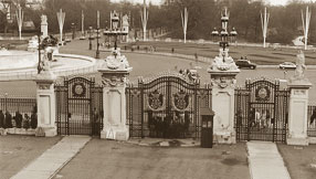 The entrance gate as seen from the Yellow Drawing Room